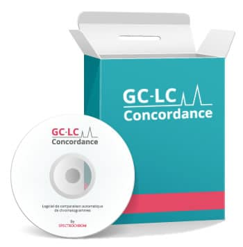 Automatic comparisons of complex chromatograms software named GC-LC CONCORDANCE